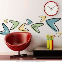 Atomic Boomerangs 50s Style Wall Decals Set of 12 Large