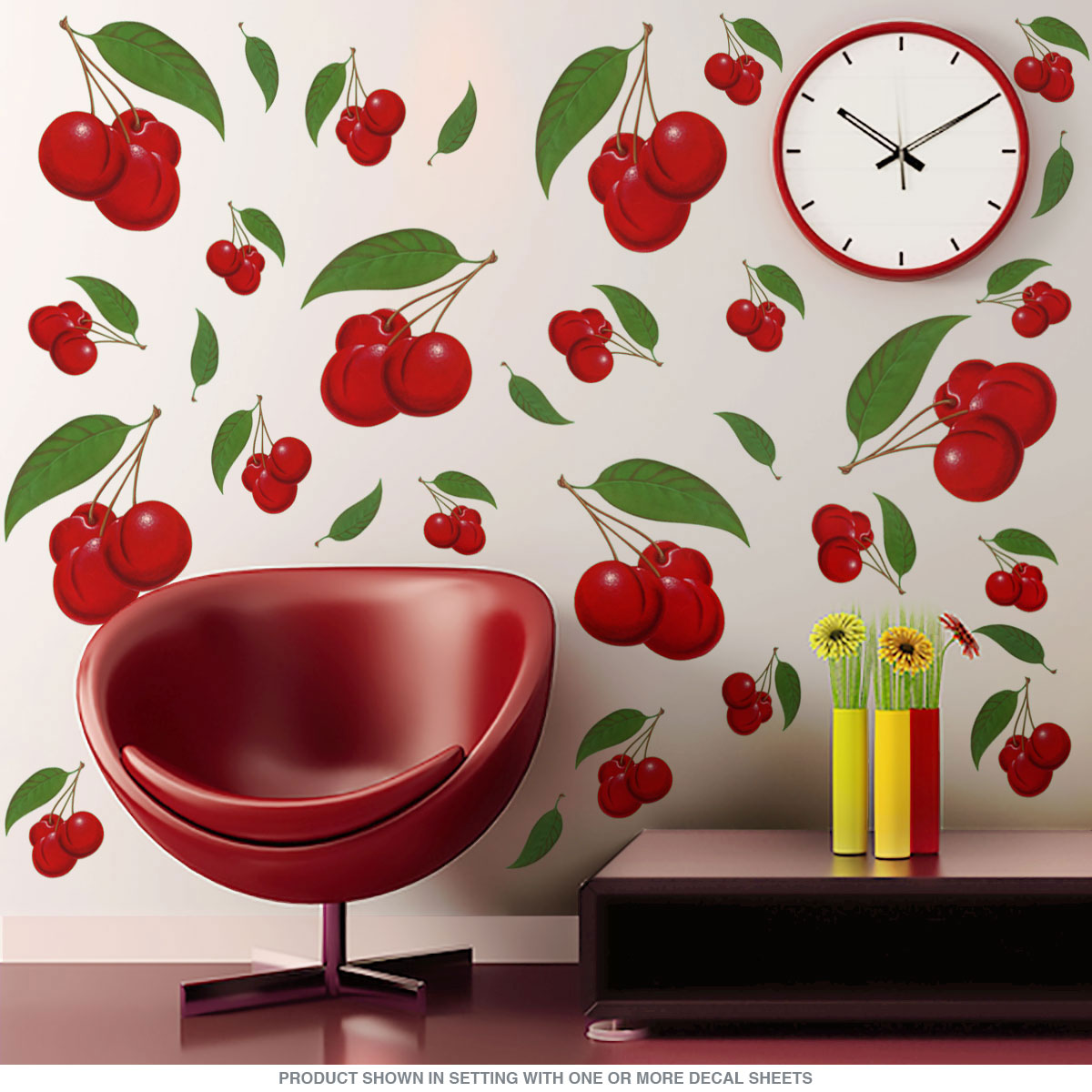 Cherry Bunches Wall Decals Large Set Of 20 At Retro Planet