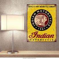 Indian Motorcycle American Company Metal Sign
