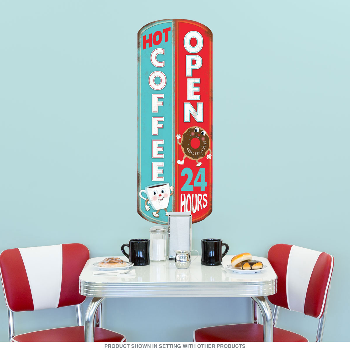 Hot Coffee Open 24 Hours Diner Wall Decal | Kitchen Decor ...