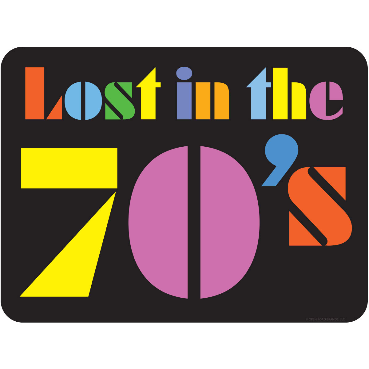 Lost In The 70s Funky Stencil Wall Decal