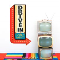Drive In Movie Family Wall Decal