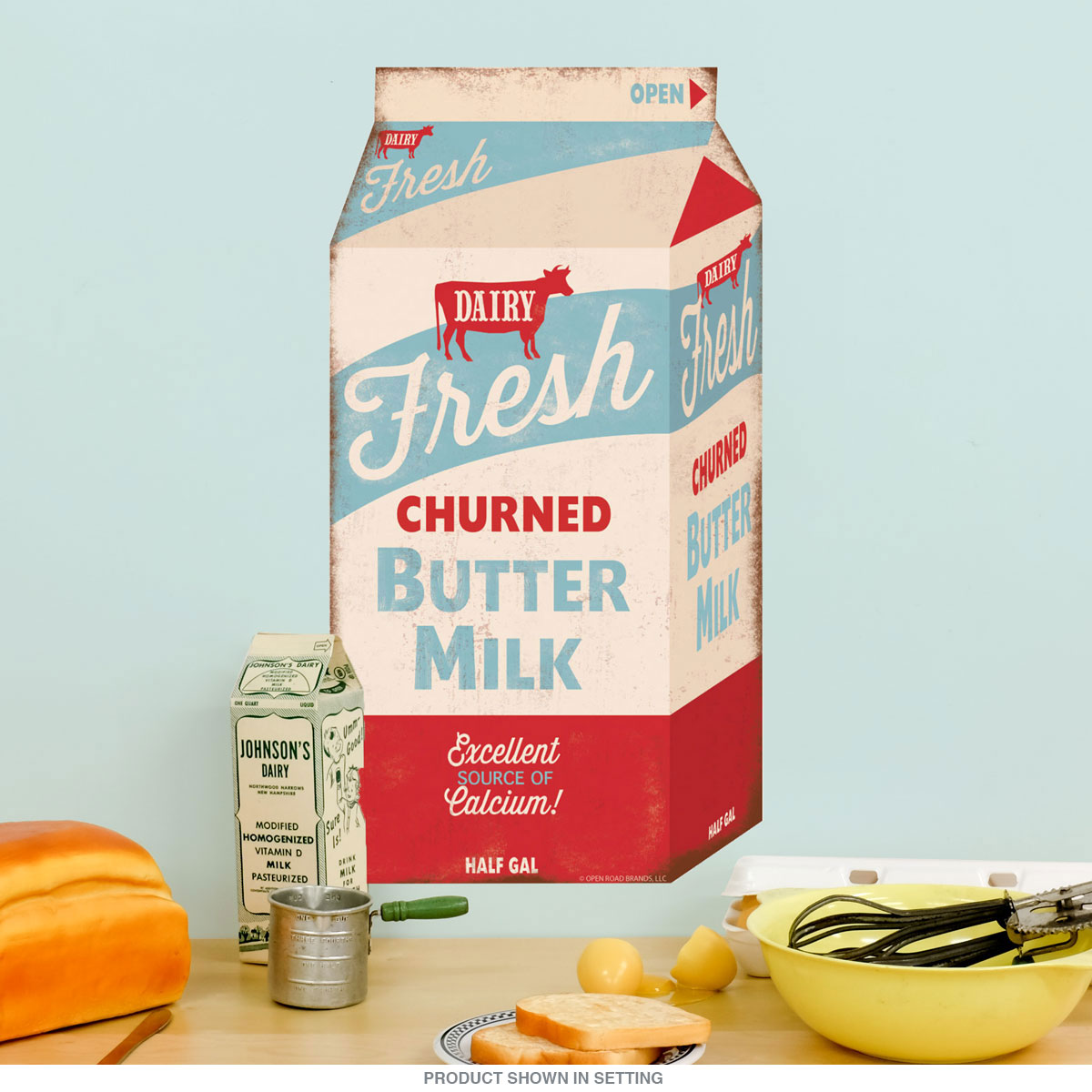 Fresh Churned Butter Milk Carton Wall Decal At Retro Planet