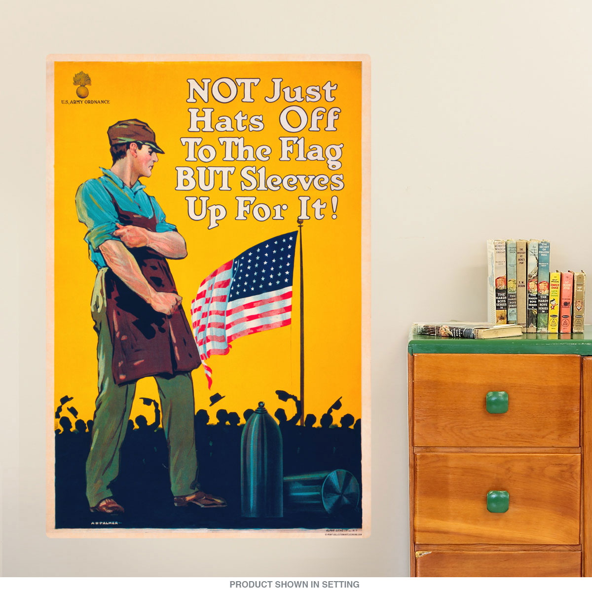 Sleeves Up for the Flag WWII Wall Decal | Military Decor ...