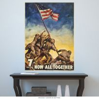 Now All Together Iwo Jima WWII Wall Decal
