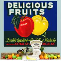 Delicious Fruits Kentucky Apples Wall Decal