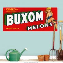 Buxom Melons Pinup Fruit Label Wall Decal