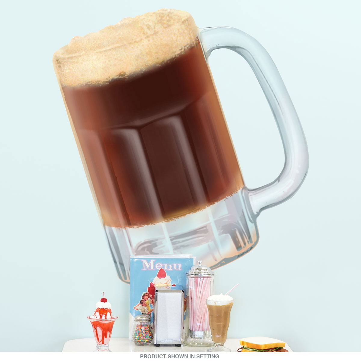 Root Beer Mug Wall Decal Soda Fountain Decor Cut Out