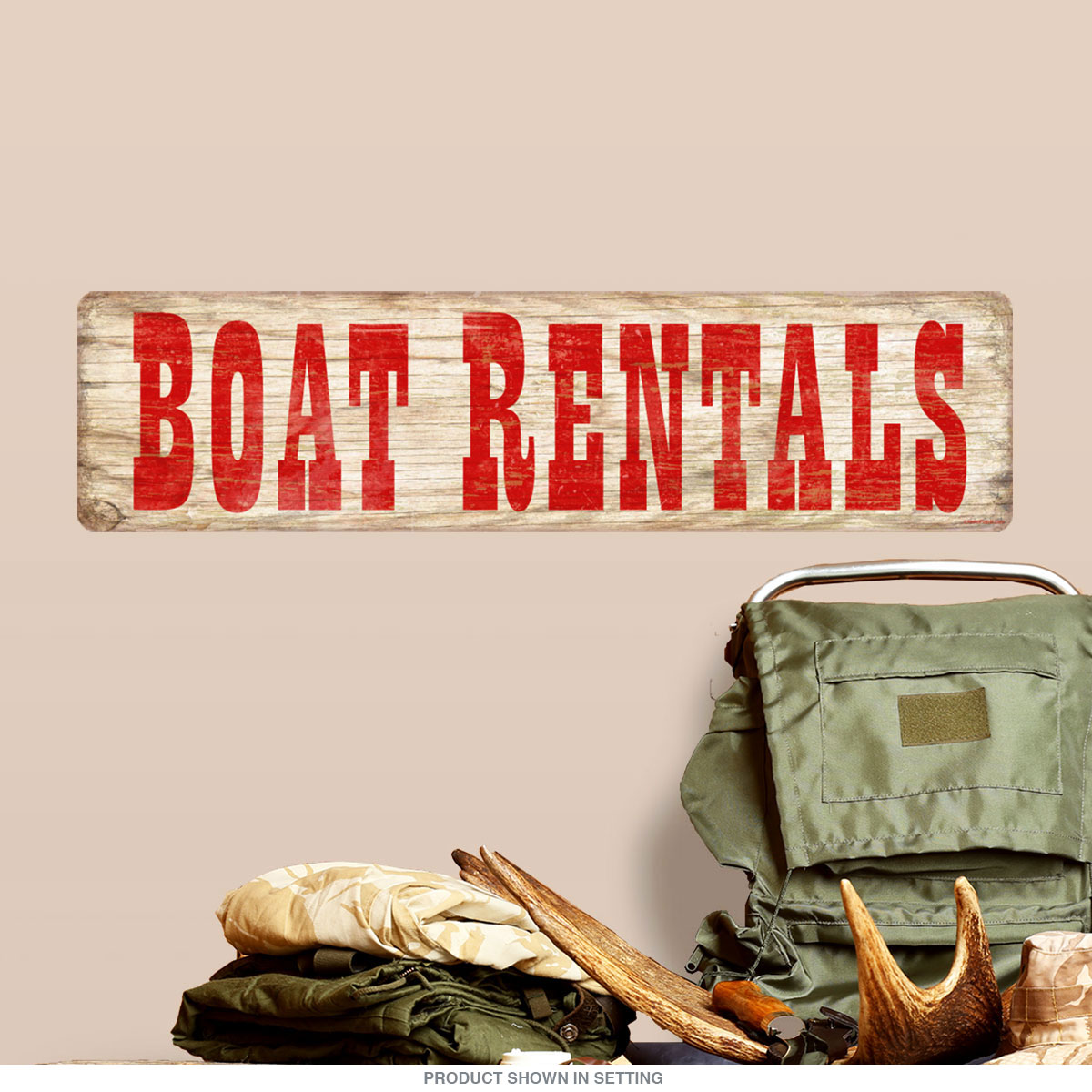 Boat Rentals DriftwoodLook Wall Decal Rustic Cabin Decor - Boat decalsboat decals sticker promotionshop for promotional boat decals