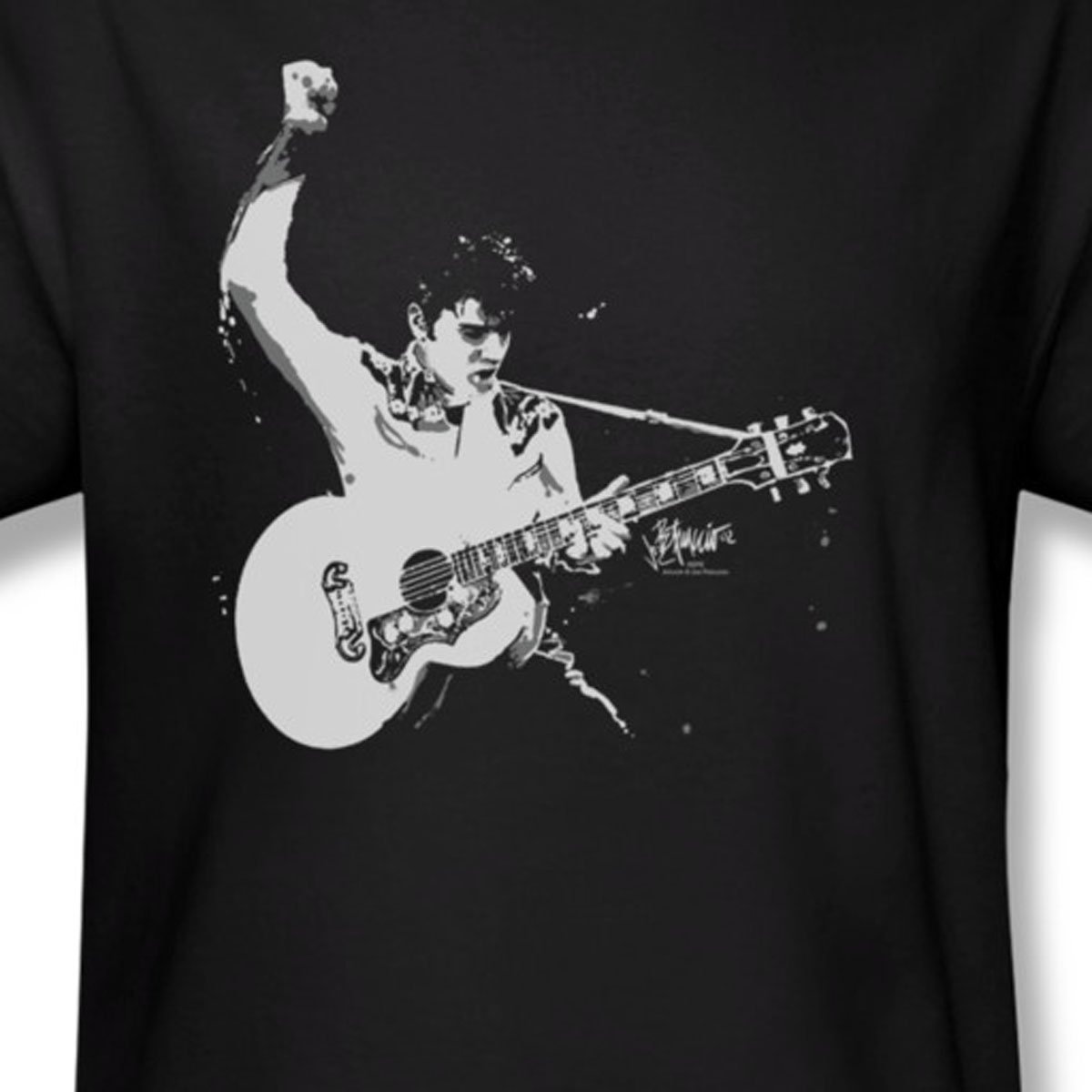 Elvis Presley Windmill Black and White T-Shirt