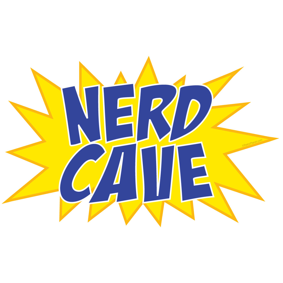 Nerd Cave Comic Book Burst Wall Decal | Wall Decor for Geeks ...