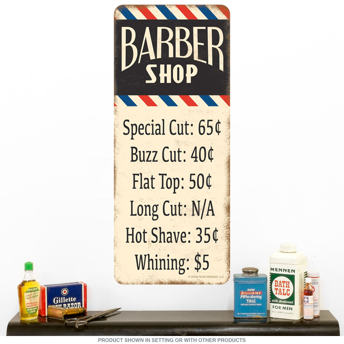 Barber Shop Haircut Prices Wall Decal At Retro Planet