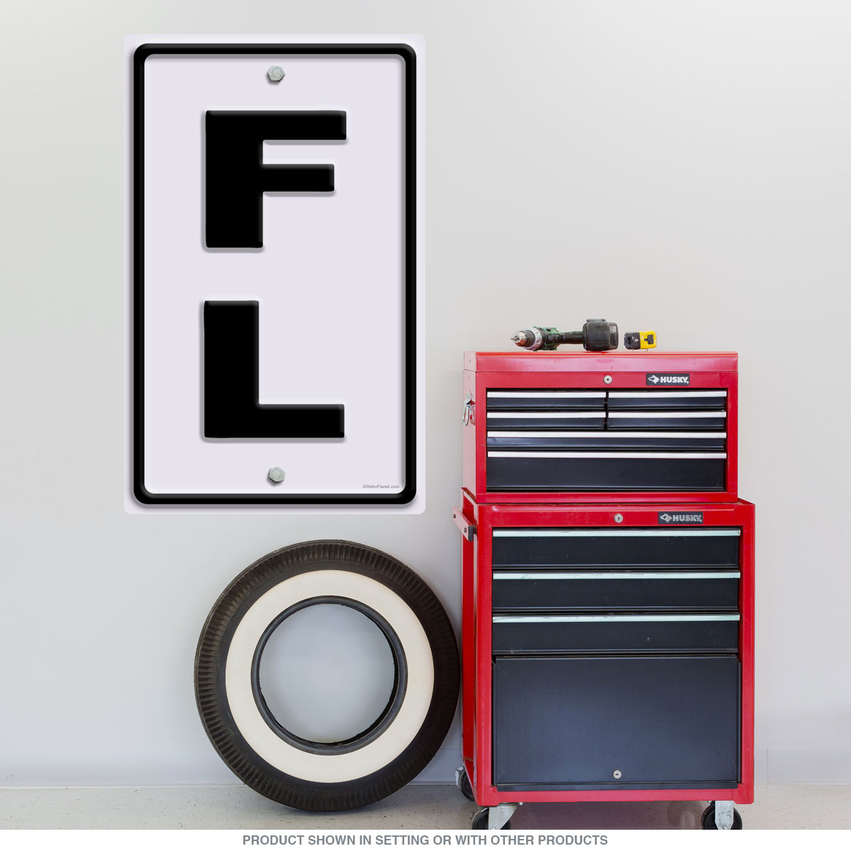 Florida Fl State Abbreviation Wall Decal At Retro Planet