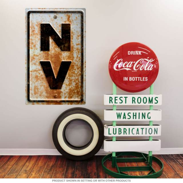 Nevada NV State Abbreviation Rusted Wall Decal