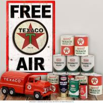 Texaco 1936 Star Metal Sign Free Air Wall Decal Combo