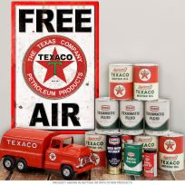 Texaco Texas Co Metal Sign Free Air Wall Decal Combo