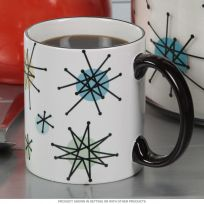 Atomic Starburst Vintage Style Coffee Mug