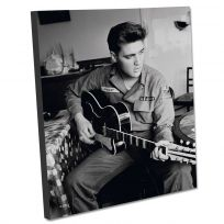 Elvis US Army Guitar Stretched Canvas