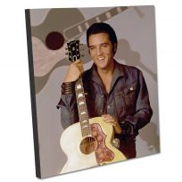 Elvis Gibson Guitar Stretched Canvas