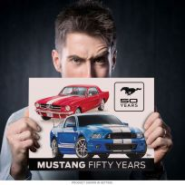 Ford Mustang Fifty Years Auto Garage Metal Sign_D