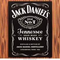 Jack Daniels Tennessee Whiskey Label Metal Sign