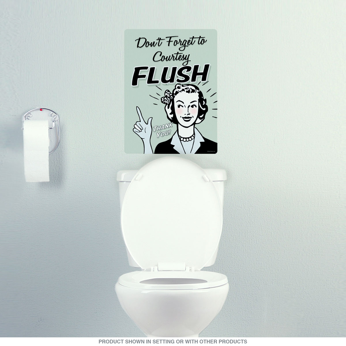 Dont Forget Courtesy Flush Funny Wall Decal 12 X 16 At