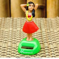 Solar Powered Dashboard Hula Doll Assorted Colors