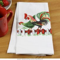Rooster Hen 40s Style Cotton Kitchen Towel