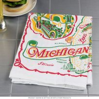 Michigan State Flour Sack Souvenir Dish Towel