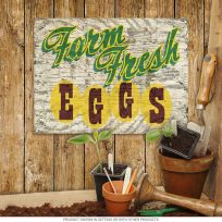 Farm Fresh Eggs Rustic Country Kitchen Sign