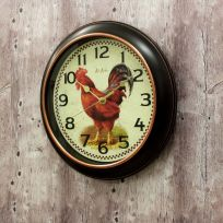 Rooster Rotterdam Resin Kitchen Wall Clock