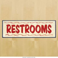 Restrooms Restaurant Style Bathroom Sign
