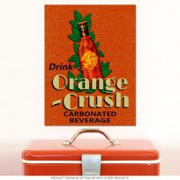 Drink Orange Crush Soda Art Deco Metal Sign