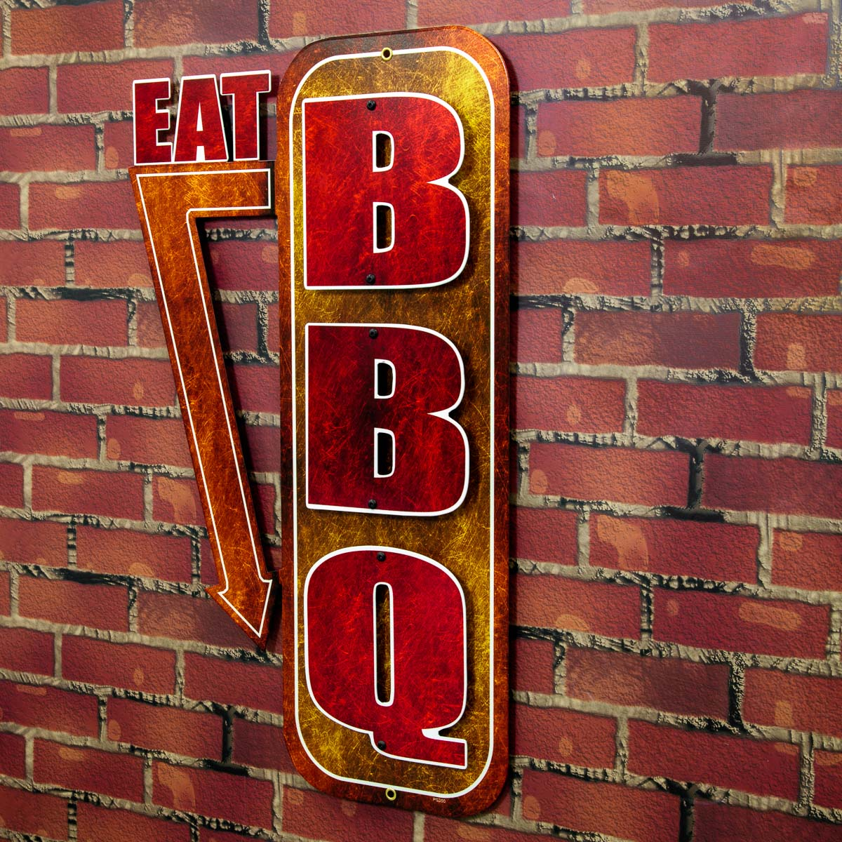 Eat Bbq Barbecue Cut Out Metal Sign At Retro Planet