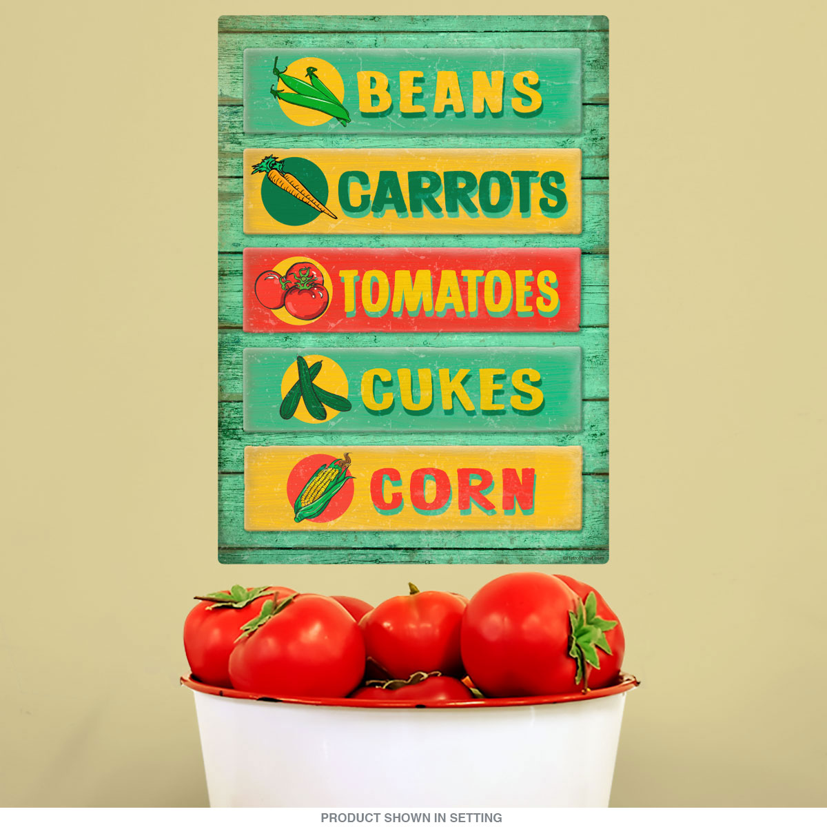 Farm Stand Vegetables Rustic Wall Decal | Country Kitchen Decor ...