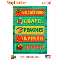Farm Stand Fresh Fruits Vinyl Sticker