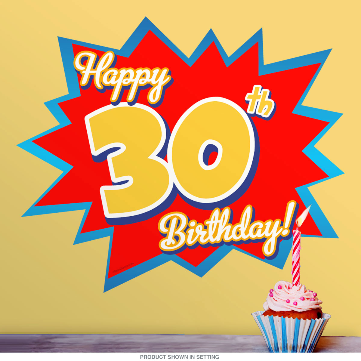 Happy 30th Birthday Party Wall Decal | Milestone Party Decorations ...