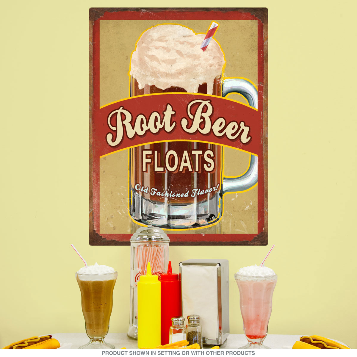 Root Beer Ice Cream Floats Frosty Mug Wall Decal