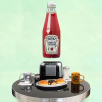 Heinz Tomato Ketchup Bottle Cutout Metal Sign