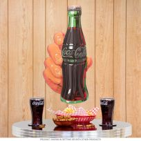 Coca-Cola Hand and Bottle 100th Anniversary Sign