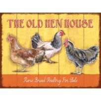 Old Hen House Chickens Metal Farm Sign