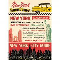 New York City Travel Guide Vintage Style Poster_D