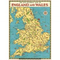 England Wales Map British Travel Poster_D