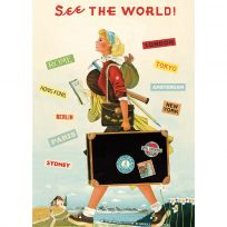 See The World Travel Vintage Style Poster