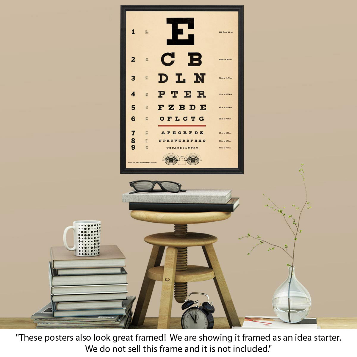 Eye chart doctors office chart poster vintage style paper eye chart doctors office chart poster vintage style paper retroplanet nvjuhfo Images