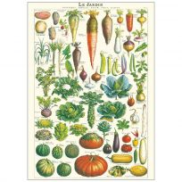 Jardin French Vegetable Garden Vintage Style Chart