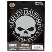 Harley-Davidson Willie G Skull Chrome Sticker