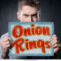 Onion Rings Country Fair Food Metal Sign_D