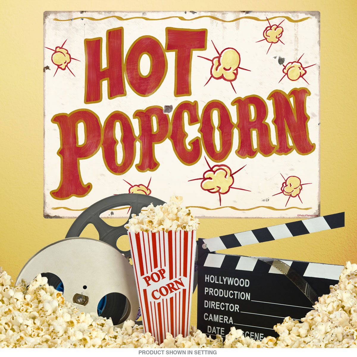 Hot Popcorn Carnival Food Wall Decal At Retro Planet