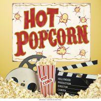 Hot Popcorn Carnival Food Wall Decal